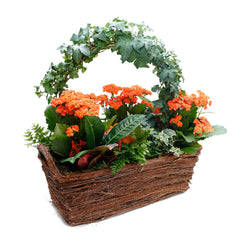 Fall Ivy Ring In Rectangle Vine Basket