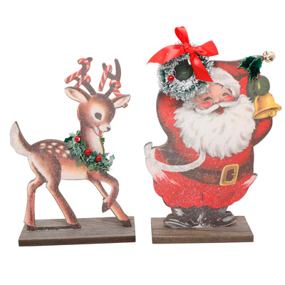 Santa and Reindeer Cut Out Set