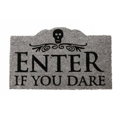 Enter If You Dare Halloween Doormat