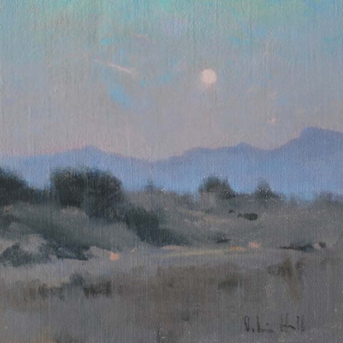 EARLY MOON OVER SADDLEBACK