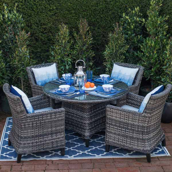 WESTCLIFF 5PC DINING SET - BRONZE