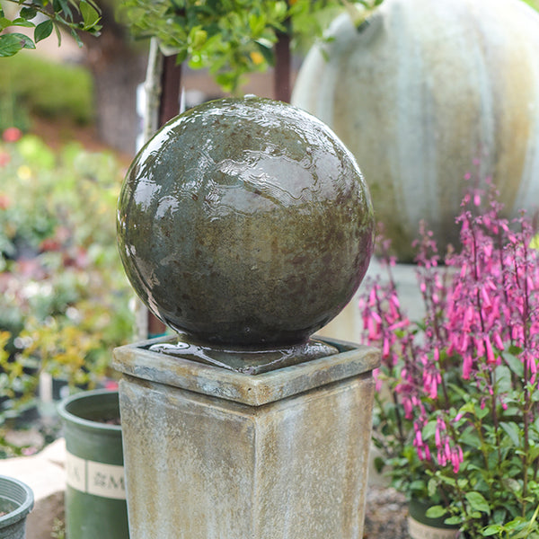 MODERN SPHERE PEDESTAL FOUNTAIN