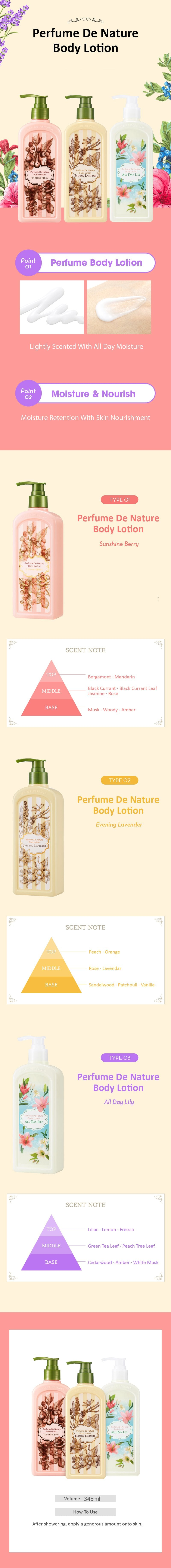 PERFUME DE NATURE BODY LOTION - ALL DAY LILY