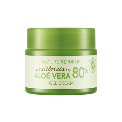 CALIFORNIA ALOE VERA 80% GEL CREAM - NatureRepublic USA