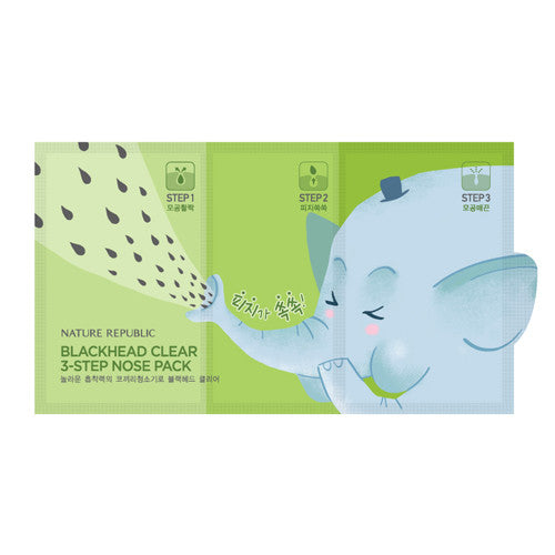 BLACKHEAD CLEAR 3-STEP NOSE PACK - NatureRepublic USA