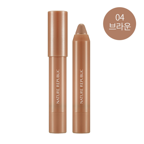 ECO CRAYON EYES 04 BROWN - NatureRepublic USA