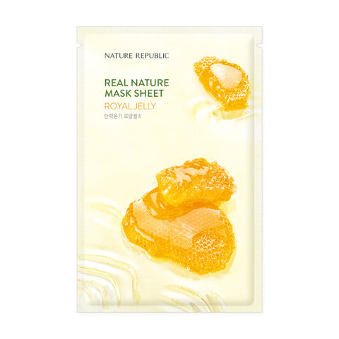 REAL NATURE ROYAL JELLY MASK SHEET - NatureRepublic USA
