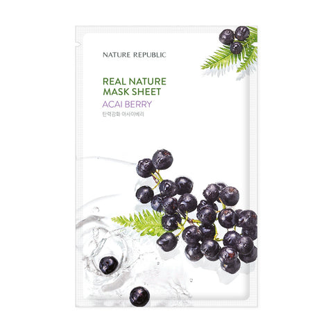 REAL NATURE ACAI BERRY MASK SHEET - NatureRepublic USA