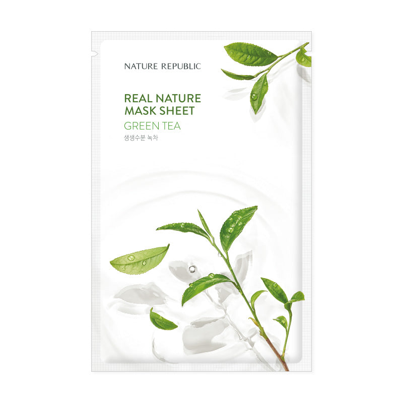 REAL NATURE GREEN TEA MASK SHEET - NatureRepublic USA