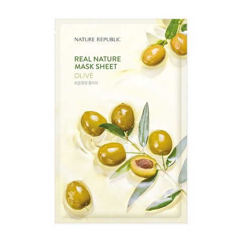 REAL NATURE OLIVE MASK SHEET - NatureRepublic USA