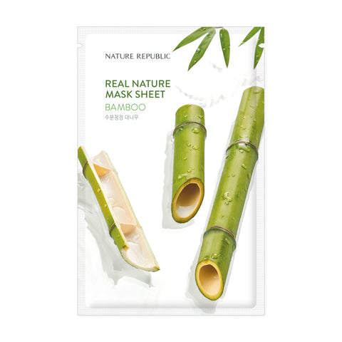 REAL NATURE BAMBOO MASK SHEET - NatureRepublic USA