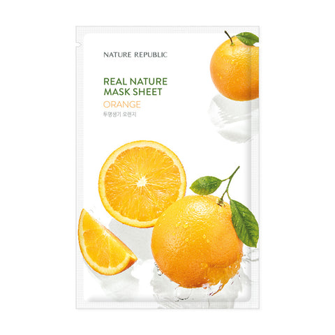 REAL NATURE ORANGE MASK SHEET - NatureRepublic USA