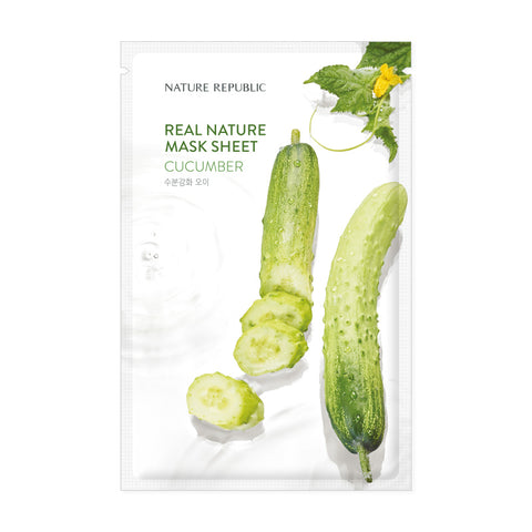 REAL NATURE CUCUMBER MASK SHEET - NatureRepublic USA