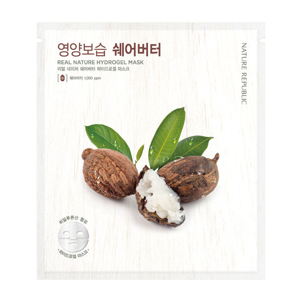 REAL NATURE SHEA BUTTER HYDROGEL MASK - NatureRepublic USA