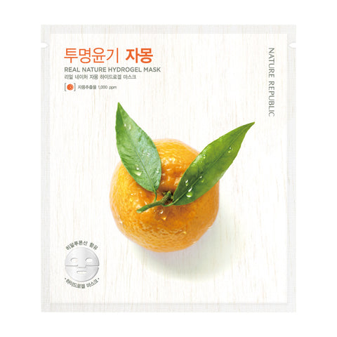 REAL NATURE GRAPEFRUIT HYDROGEL MASK - NatureRepublic USA