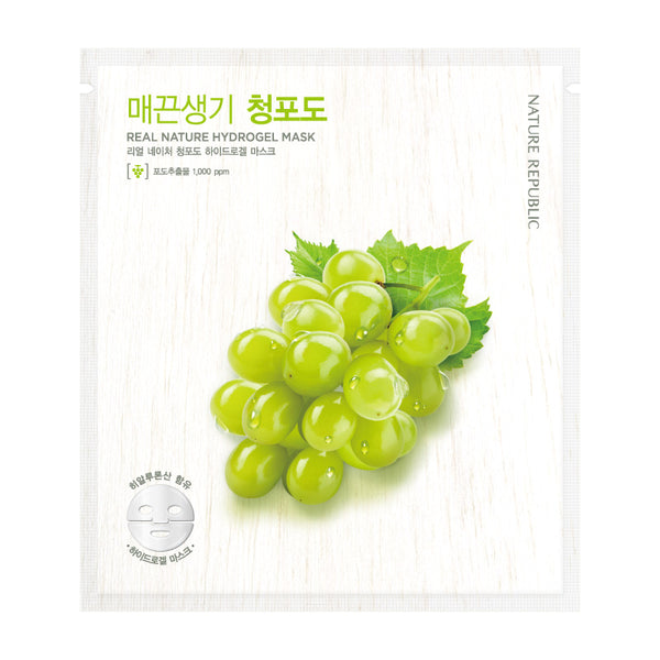 REAL NATURE GREEN GRAPE HYDROGEL MASK