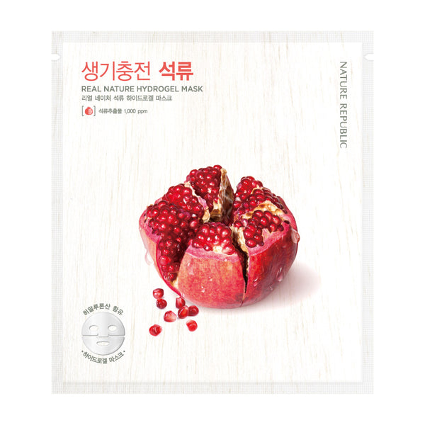 REAL NATURE POMEGRANATE HYDROGEL MASK - NatureRepublic USA