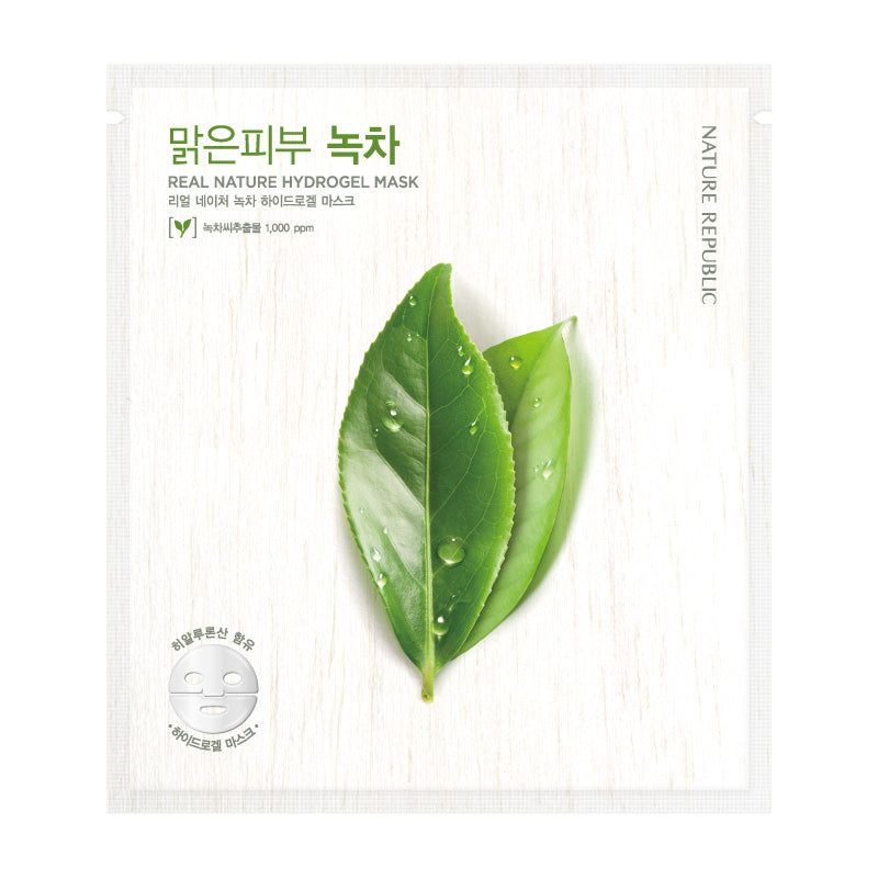REAL NATURE GREEN TEA HYDROGEL MASK - NatureRepublic USA