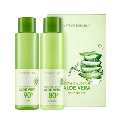 SOOTHING & MOISTURE ALOE VERA SKIN CARE SET - NatureRepublic USA