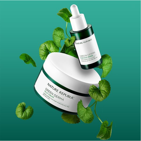 GREEN DERMA MILD CREAM SET WITH CICA SERUM VER.1