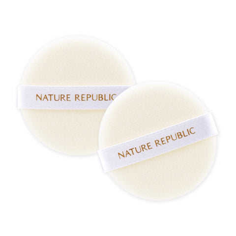 NATURE'S DECO SOFT-TOUCH FLOCKED PUFF 2P