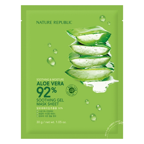 SOOTHING & MOISTURE ALOE VERA 92% SOOTHING GEL MASK SHEET