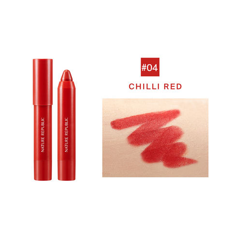ECO CRAYON LIP VELVET 04 CHILLI RED