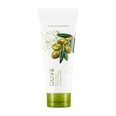 REAL NATURE OLIVE FOAM CLEANSER - NatureRepublic USA