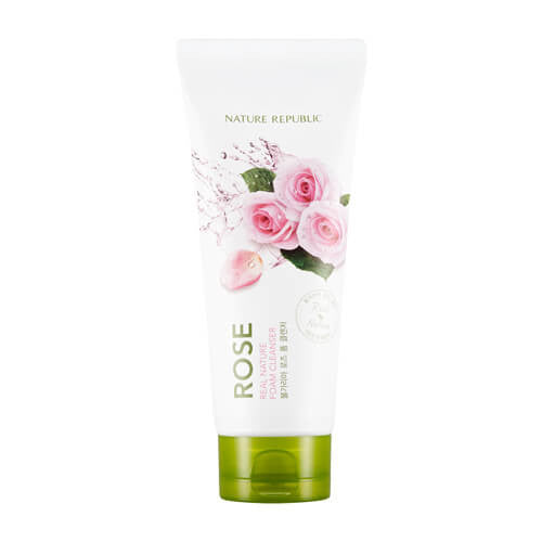 REAL NATURE ROSE FOAM CLEANSER - NatureRepublic USA