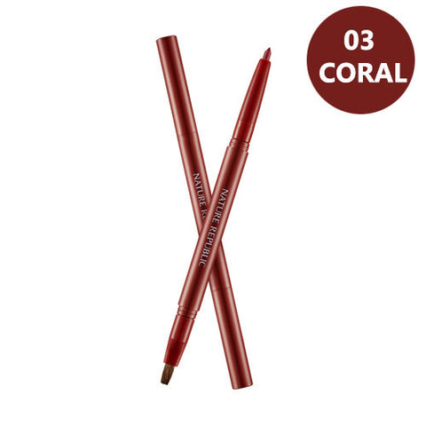 BY FLOWER AUTO LIP LINER 03 CORAL
