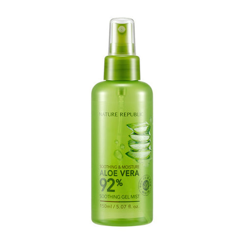 SOOTHING & MOISTURE ALOE VERA 92% SOOTHING GEL MIST - NatureRepublic USA