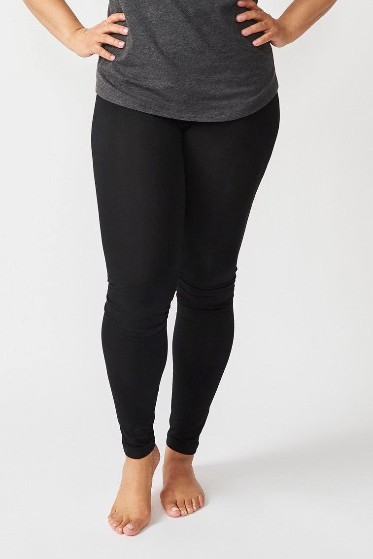 Black Organic Cotton Ankle Leggings *Clearance*