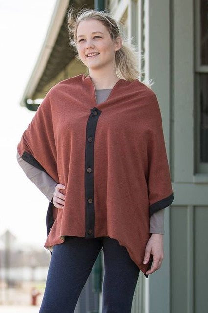Organic Cotton Button Cape *Clearance*
