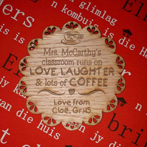 Teacher Personalized Coaster Gift