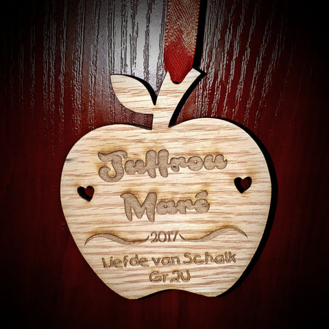 Christmas Decorations Teacher Apple Personalized