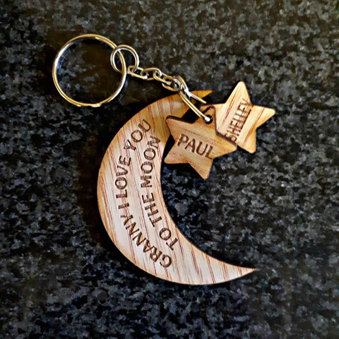 Love you to the Moon Keyring