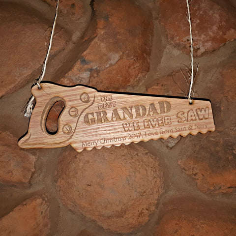 Saw Hanging Personalized Decoration