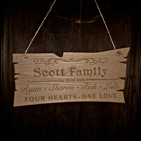 Family Personalized Hanging Sign