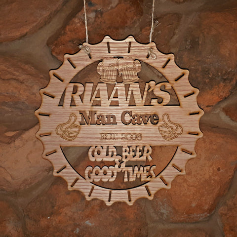 Man Cave Hanging Personalized Decoration