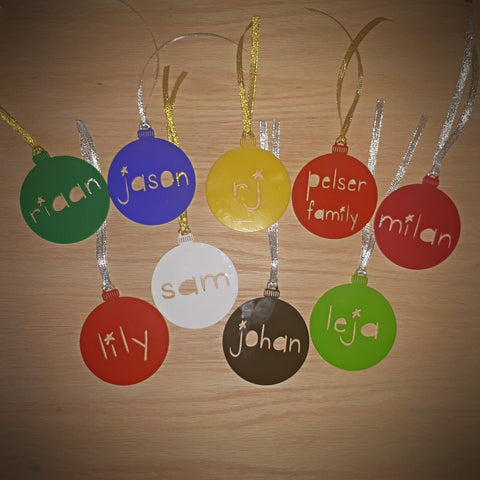 Acrylic Name Christmas Bauble