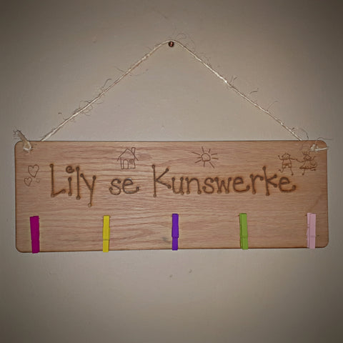 Child's Personalized Artwork Hanger