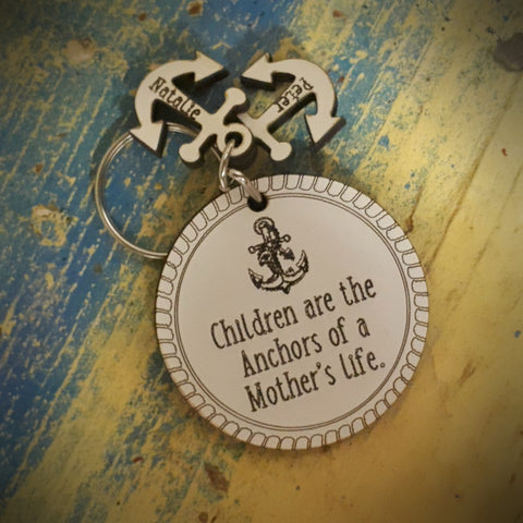 Anchor Mother Keyring with Charms