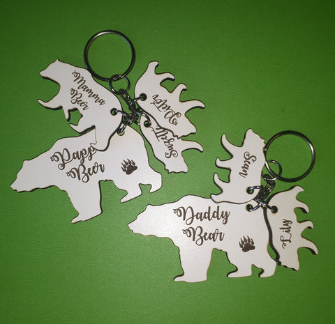 Bear Dad Keyring
