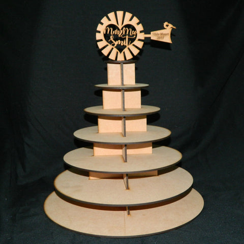 Cupcake Stand with Personalized Windmill Topper