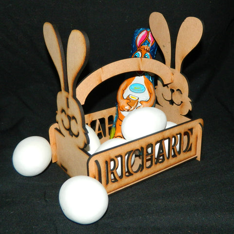 Easter Bunny Basket Personalized with Childs Name