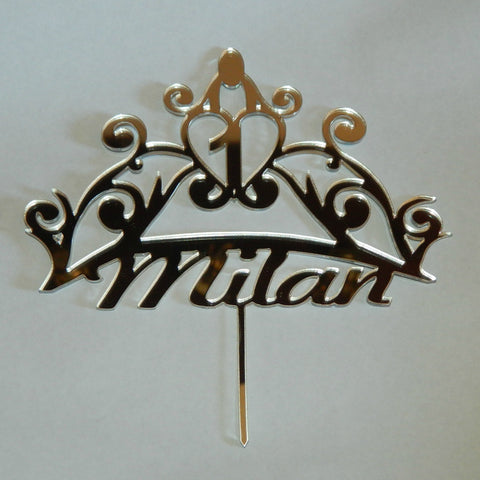 Crown Personalized Birthday Cake Topper