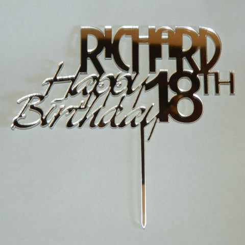Happy Birthday Personalized Cake Topper
