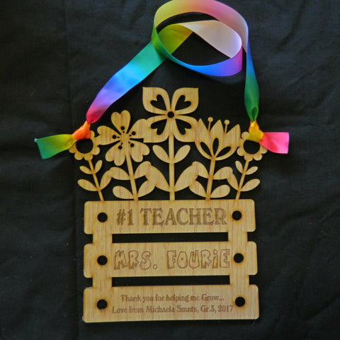 Teacher Flower Gift Hanging Decoration