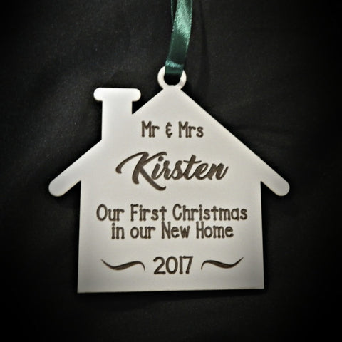 Christmas Decorations First Christmas New Home Personalized with surname
