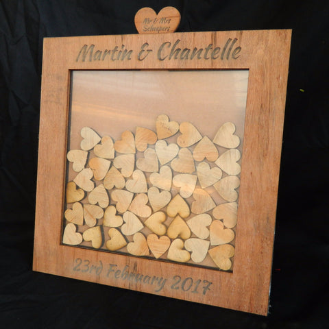 Wedding Guestbook Dropbox Frame - Red Oak Veneer